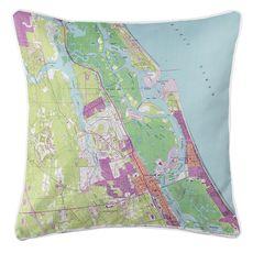 New Smyrna Beach, FL (1993) Topo Map Coastal Pillow