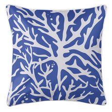 Sea Coral Coastal Pillow - Cobalt