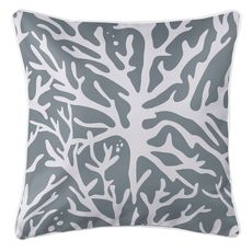 Sea Coral Coastal Pillow - Gray