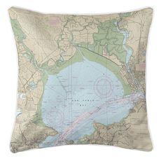 San Pablo Bay, CA Nautical Chart Pillow