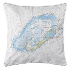 Bermuda Nautical Chart Pillow