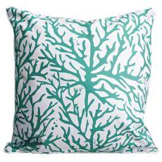 Coral Aqua Pillow