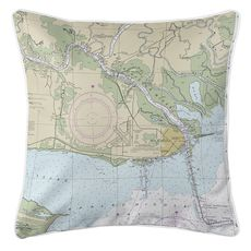 Apalachicola, FL Nautical Chart Pillow