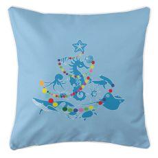 Sea Life Christmas Tree Pillow