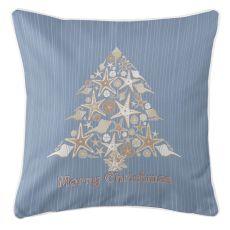 Seashell Christmas Tree Pillow
