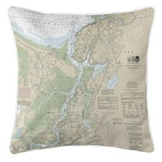 Annisquam, Annisquam River, MA Nautical Chart Pillow