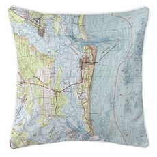 Amelia Island, FL (1981) Topo Map Coastal Pillow