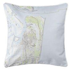 Fernandina Beach, FL (2018) Topo Map Coastal Pillow