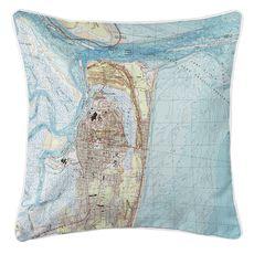 Fernandina Beach, FL (1994) Topo Map Coastal Pillow