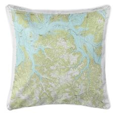 Dale Hollow Reservoir, TN-KY SE (1968) Topo Map Coastal Pillow