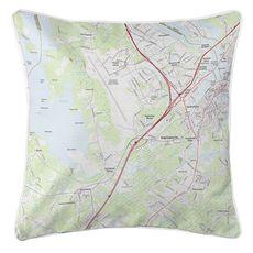 Portsmouth, NH (2018) Topo Map Coastal Pillow