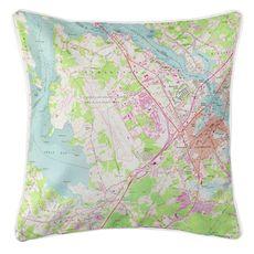Portsmouth, NH (1956) Topo Map Coastal Pillow
