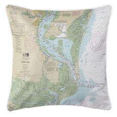 Winyah Bay, SC Nautical Chart Pillow
