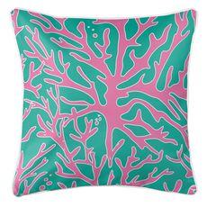 Sea Coral Coastal Pillow - Pink, Aqua