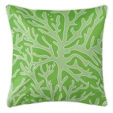 Sea Coral Coastal Pillow - Light Green, Green