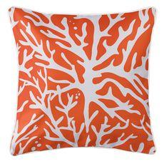 Sea Coral Coastal Pillow - Orange
