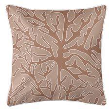 Sea Coral Coastal Pillow - Brown, Light Brown