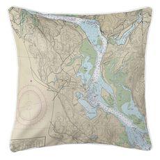 Essex, CT Nautical Chart Pillow