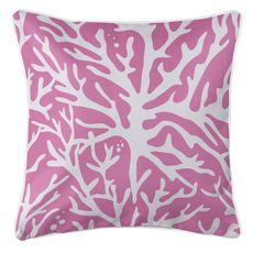 Sea Coral Coastal Pillow - Pink