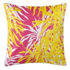 Palm Springs Coastal Pillow - Yellow, Pink