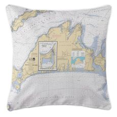 Martha'S Vineyard, Massachusetts Nautical Chart Pillow
