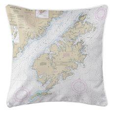 Kodiak Island, AK Nautical Chart Pillow