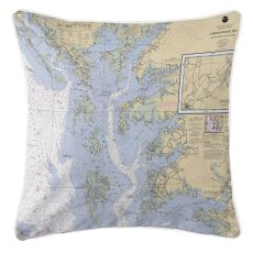Md-Chesapeake Bay, Md-Va Nautical Chart Pillow