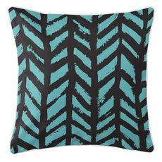 Grand Bahama - Drifter Black & Aqua Coastal Pillow