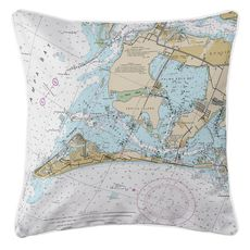 Anna Maria Island, FL Nautical Chart Pillow
