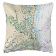 Amelia Island, FL Nautical Chart Pillow