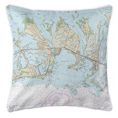 Sugarloaf, Cudjoe & Summerland Keys, FL Nautical Chart Pillow