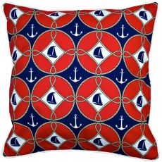 Sailboats & Anchors Pillow