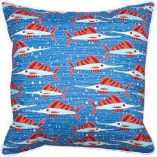 Sailfish School Coral Pillow