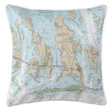 Ramrod, Torch & Big Pine Keys, FL Nautical Chart Pillow