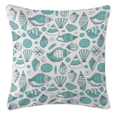 Aqua Shells Pillow