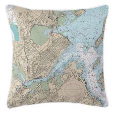 Portland, Maine Nautical Chart Pillow