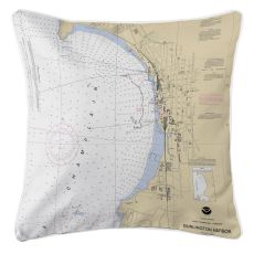 Burlington, Vt Nautical Chart Pillow
