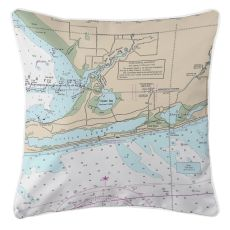AL: Gulf Shores, AL Nautical Chart Pillow