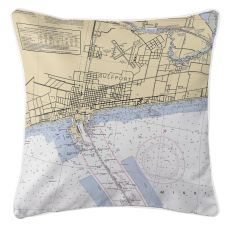 Gulfport, Minnesota Nautical Chart Pillow