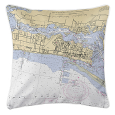 Biloxi, Minnesota Nautical Chart Pillow