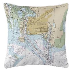 Pascagoula, Minnesota Nautical Chart Pillow