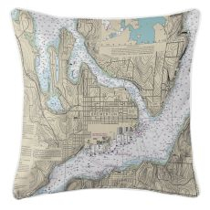 Bremerton, Washington Nautical Chart Pillow