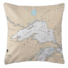 Great Lakes: Lake Superior Nautical Chart Pillow