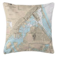 Duluth, Mn & Superior, Wi Nautical Chart Pillow