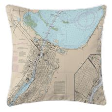 Green Bay, Wisconsin Nautical Chart Pillow