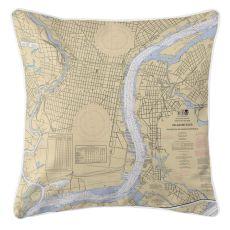 Pa-Philadelphia, Pa & Camden, New Jersey Nautical Chart Pillow