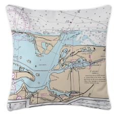 St. Lucie Inlet, Florida Nautical Chart Pillow