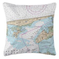 Kill Devil Hills, Nags Head, North Carolina Nautical Chart Pillow