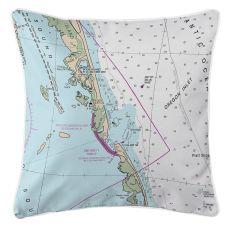 Oregon Inlet, North Carolina Nautical Chart Pillow