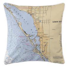 Sarasota, Florida Nautical Chart Pillow